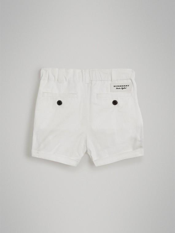 Bermuda chino de sarja de algodão (Branco) | Burberry - cell image 3