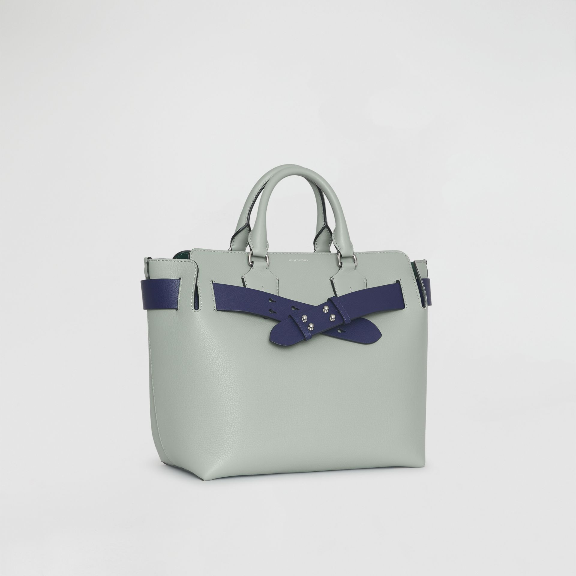 The Medium Leather Belt Bag in Grey Blue - Women | Burberry United Kingdom - gallery image 6