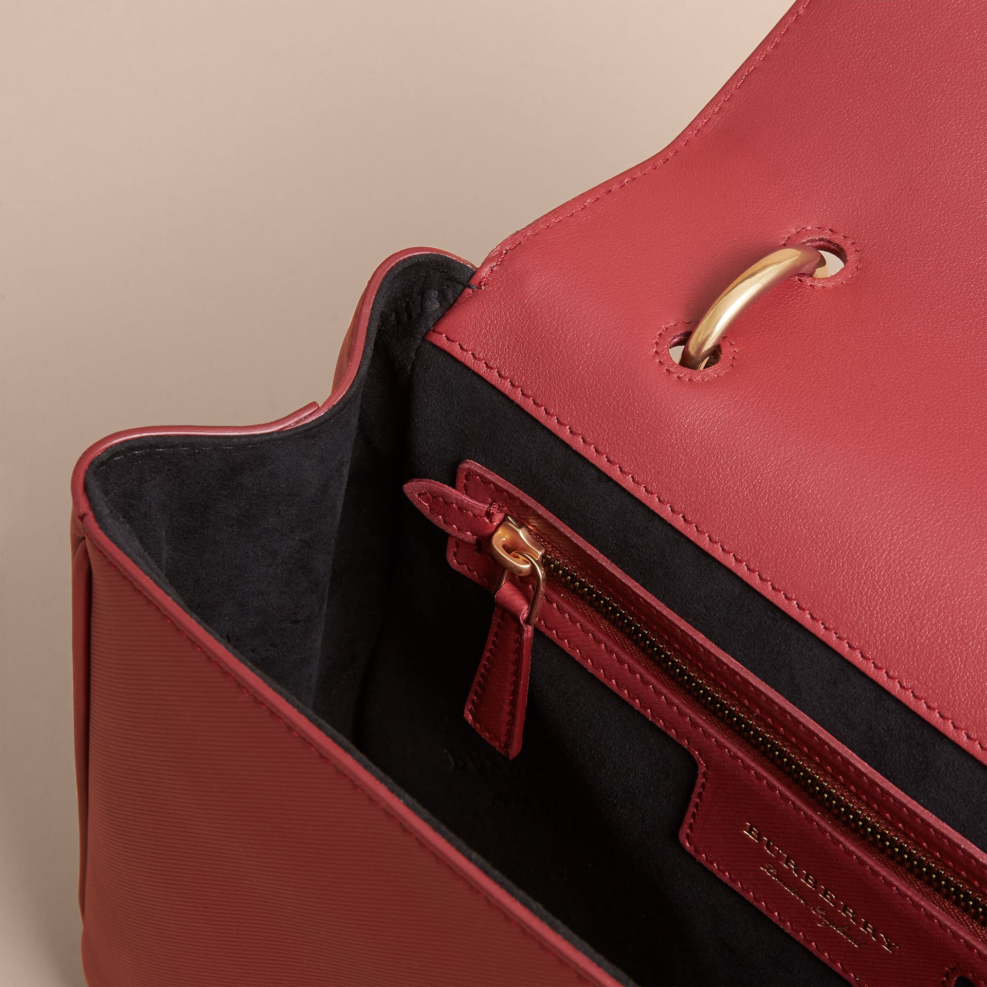 The Medium DK88 Top Handle Bag in Antique Red - gallery image 6