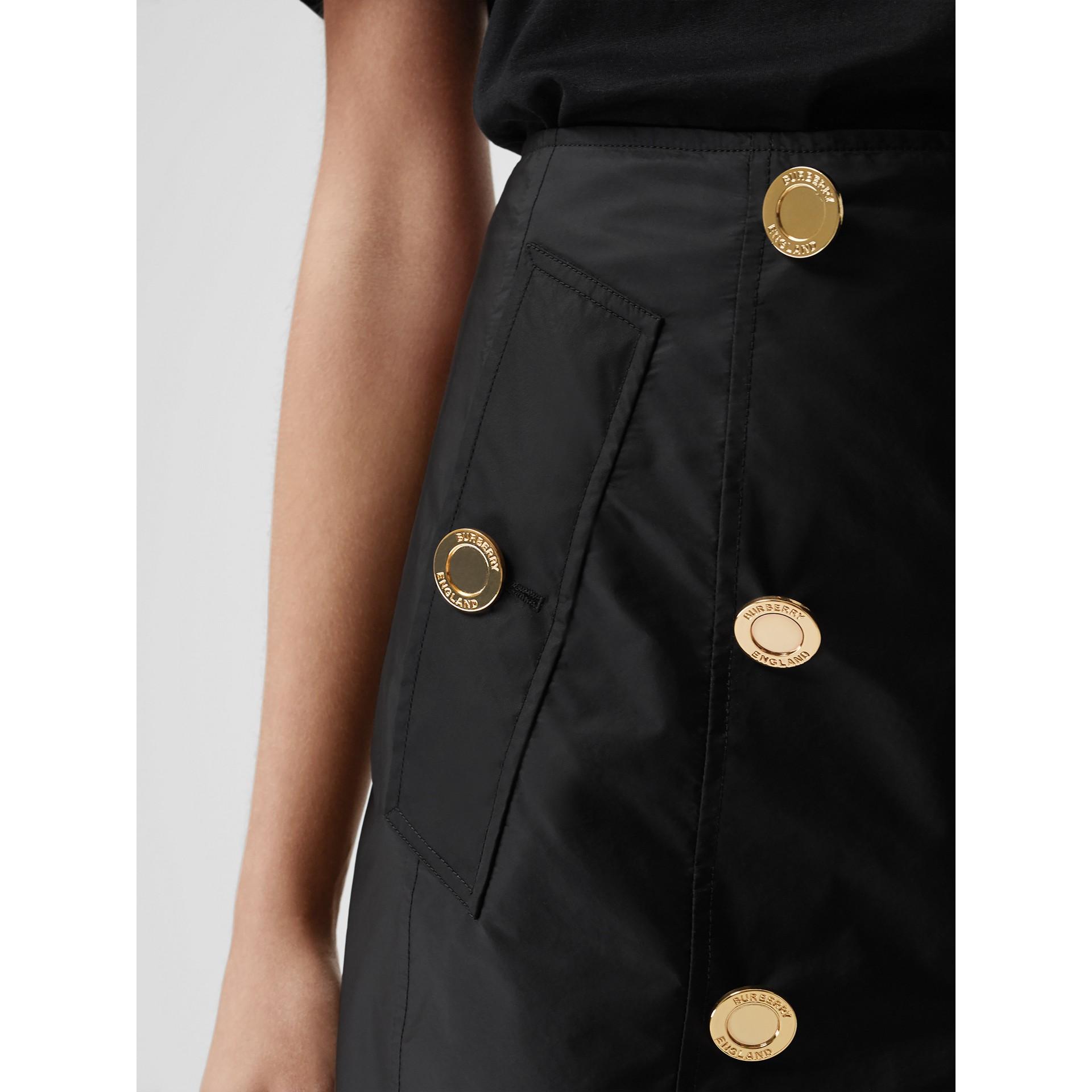 Nylon Trench Skirt in Black - Women | Burberry - gallery image 2