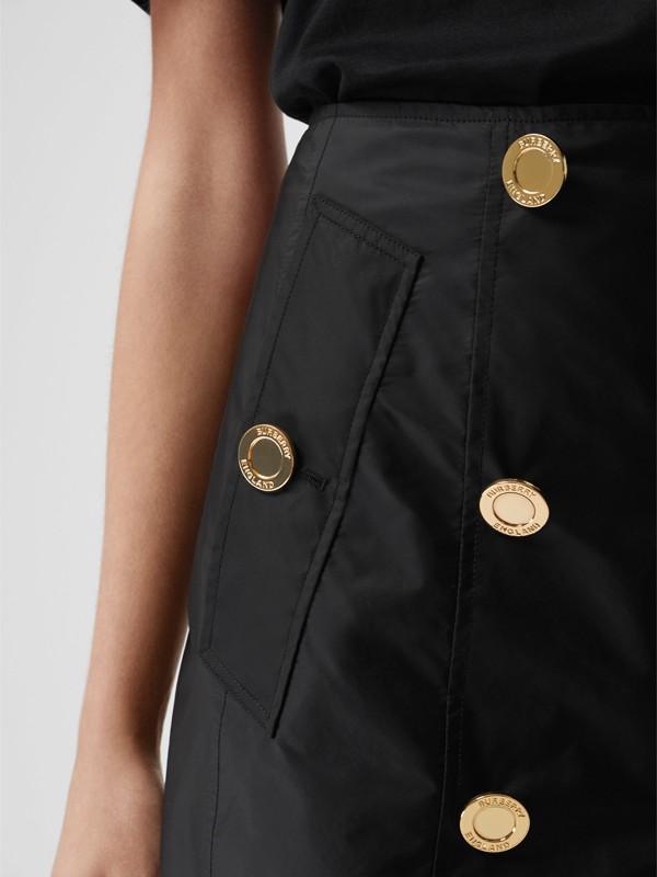 Nylon Trench Skirt in Black - Women | Burberry - cell image 2