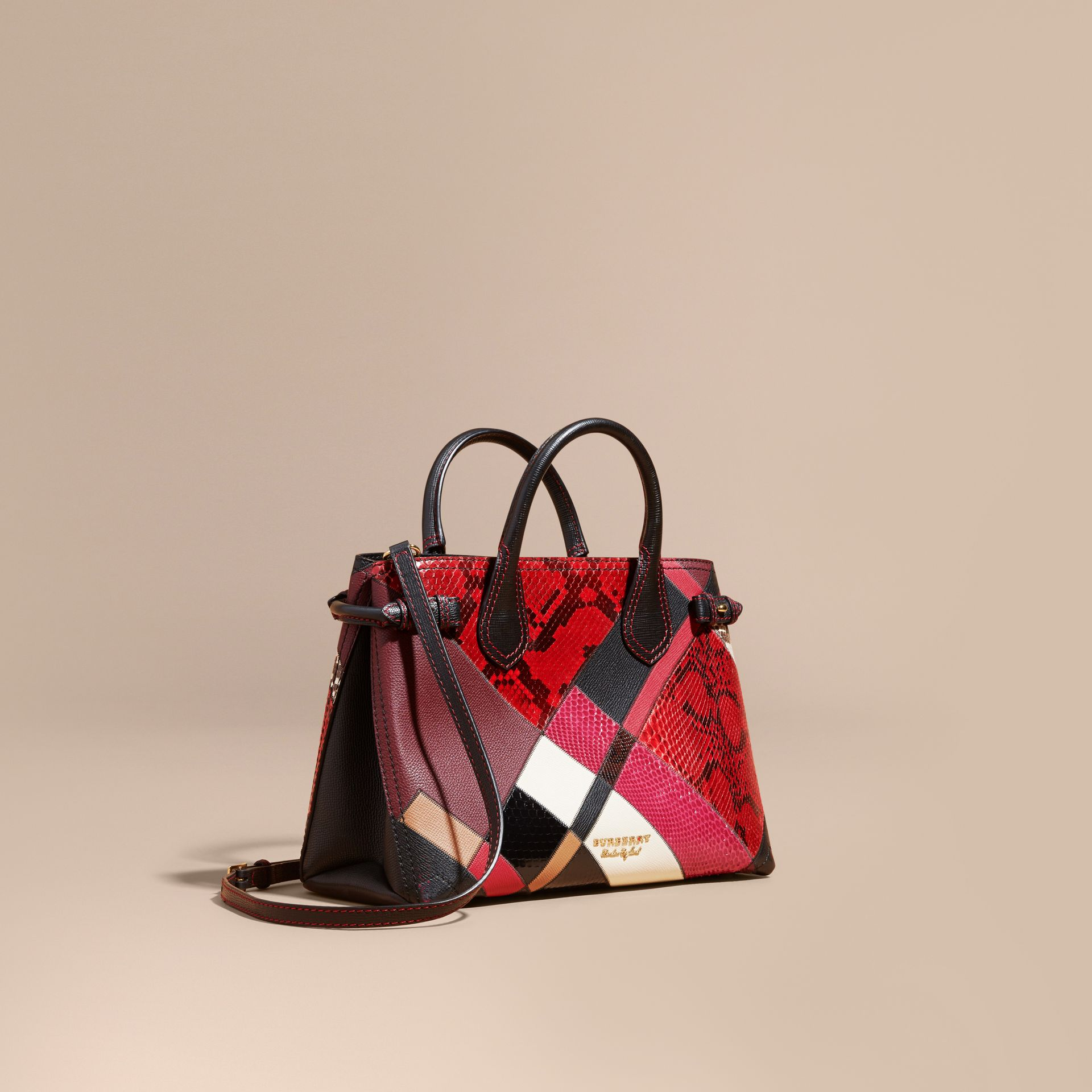 The Medium Banner in Patchwork Python and Leather - Women | Burberry - gallery image 1