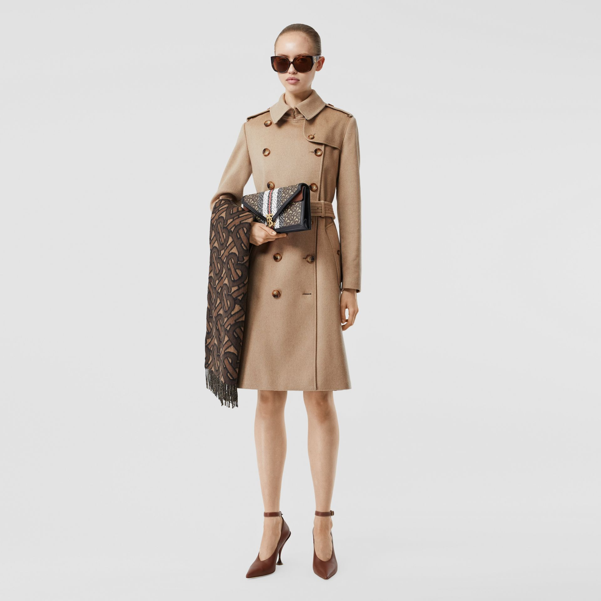 Cashmere Trench Coat in Camel - Women | Burberry - gallery image 0
