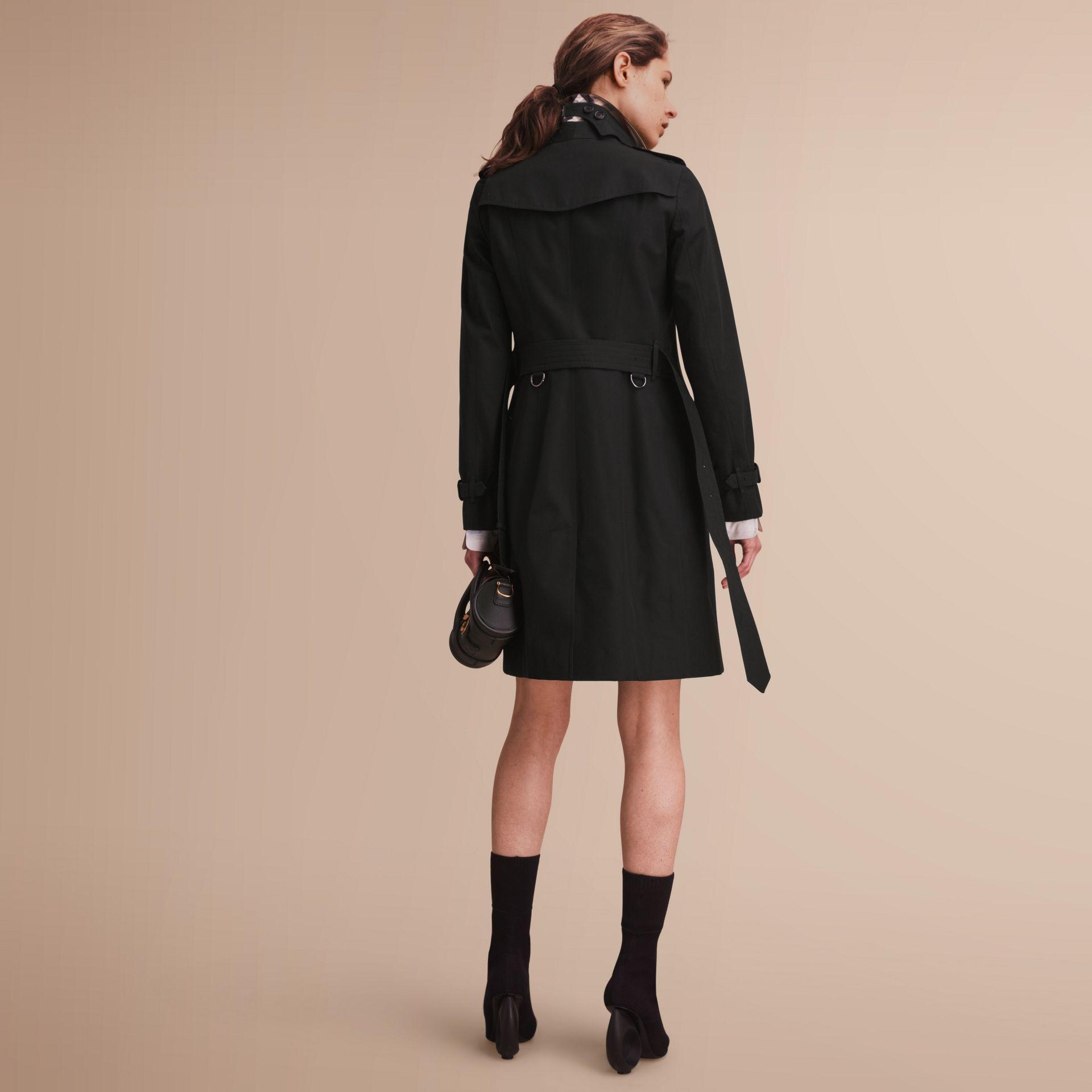 The Sandringham – Long Heritage Trench Coat in Black - gallery image 3
