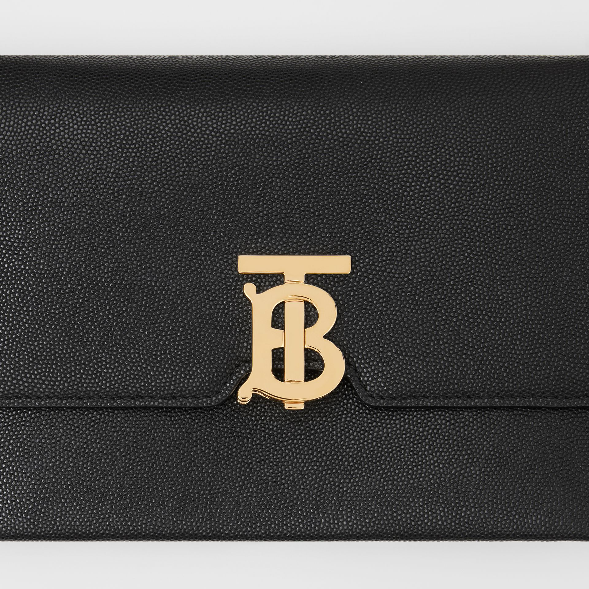 Small Monogram Motif Leather Crossbody Bag in Black - Women | Burberry United Kingdom - gallery image 1