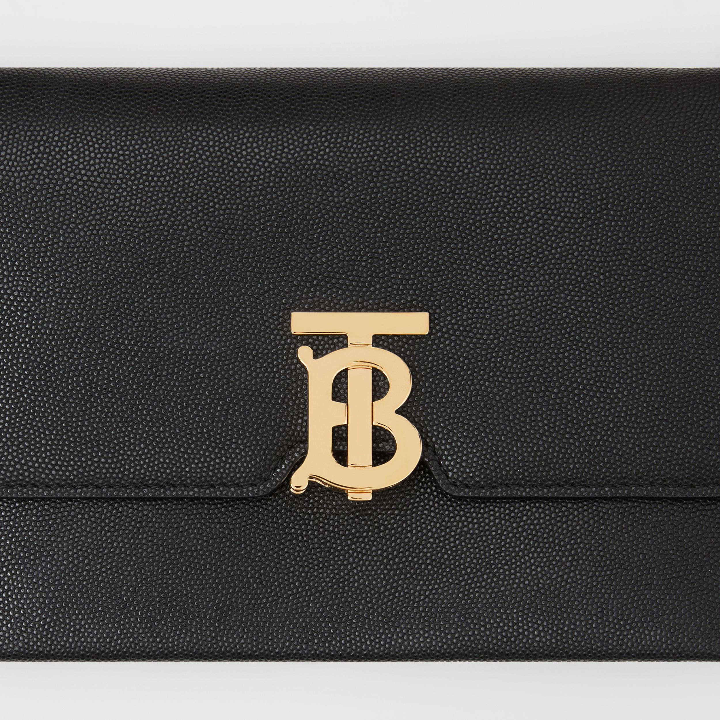 Small Monogram Motif Leather Crossbody Bag in Black - Women | Burberry - 2