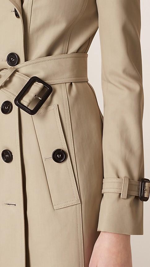 Trench Trench-coat en double sergé de coton - Image 4