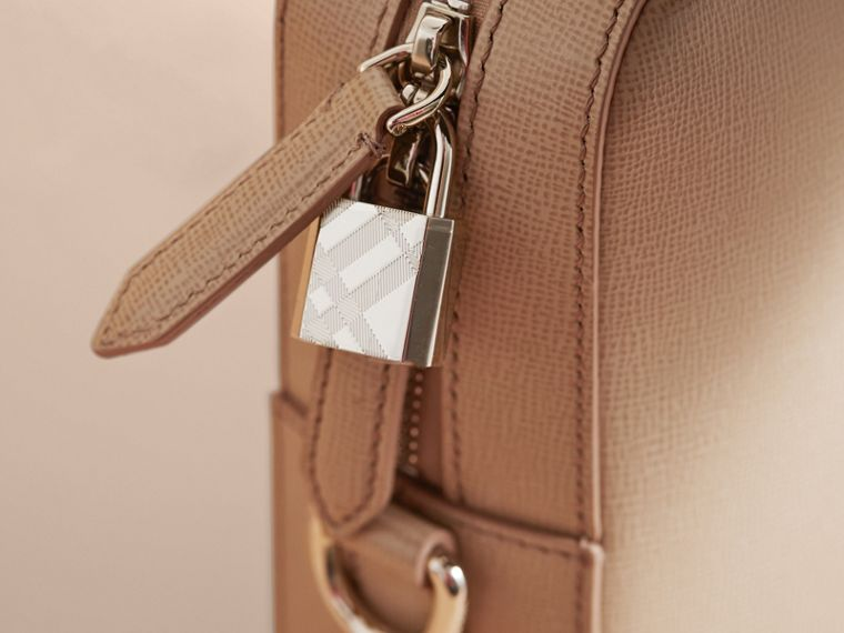 London Leather Briefcase in Honey/bitter Chocolate - Men | Burberry - cell image 1