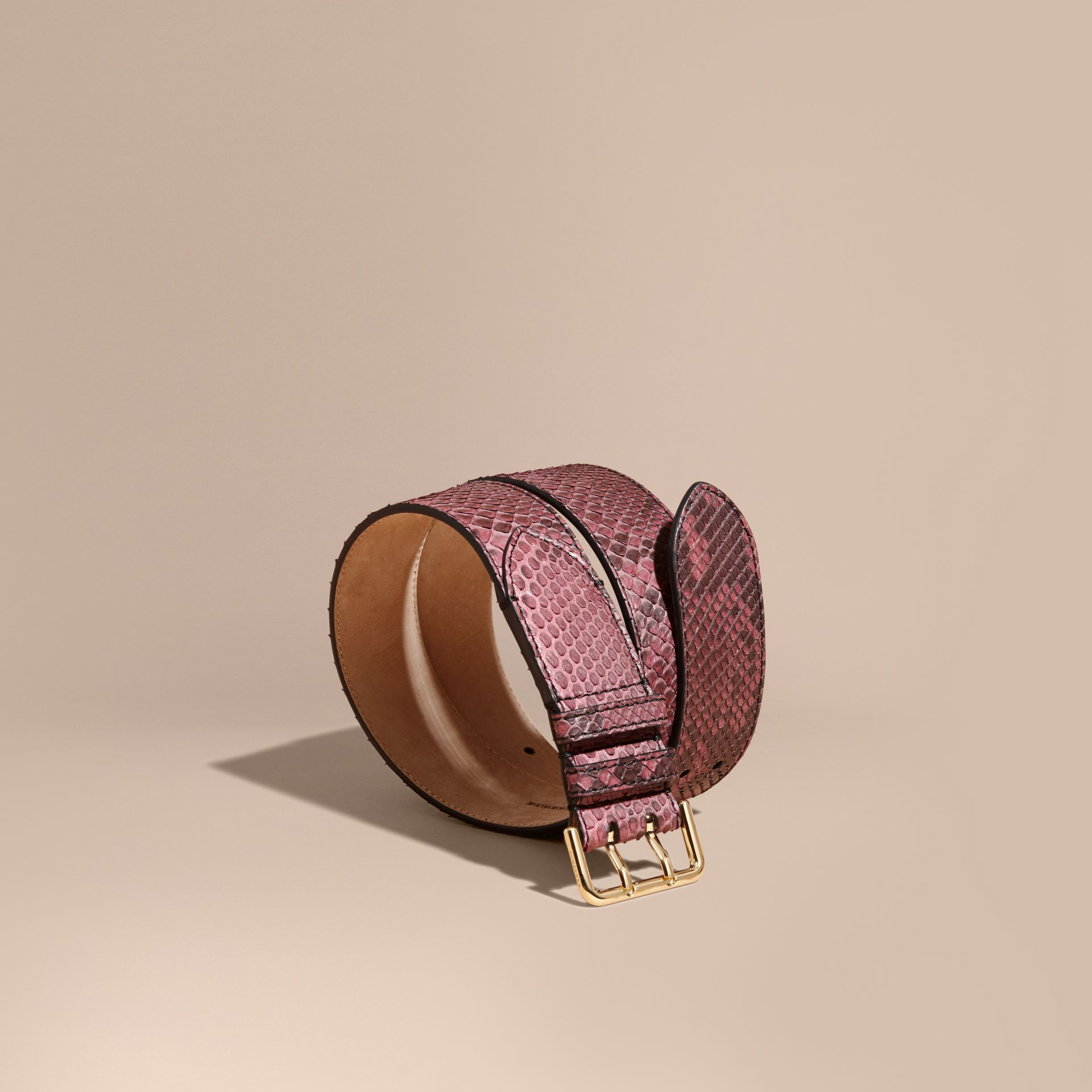 Python Belt in Elderberry - Women | Burberry - gallery image 1