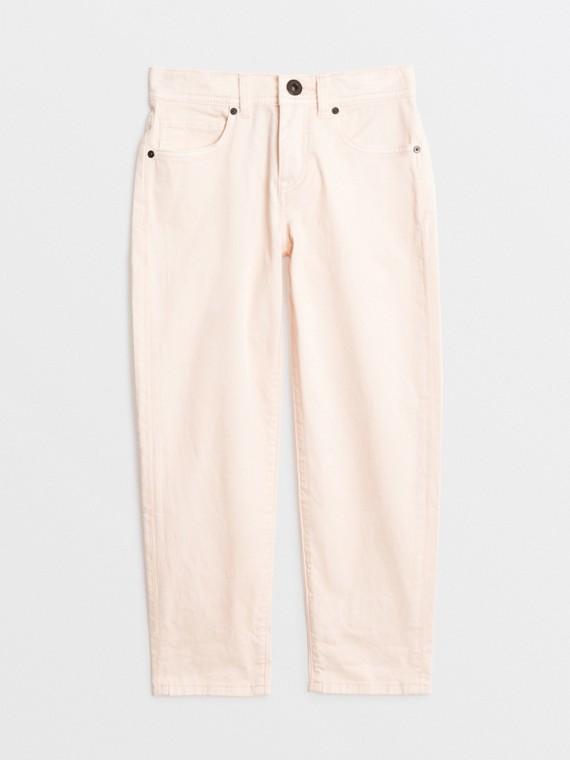 Leger geschnittene Jeans aus Stretchdenim (Helles Rosenrosa)