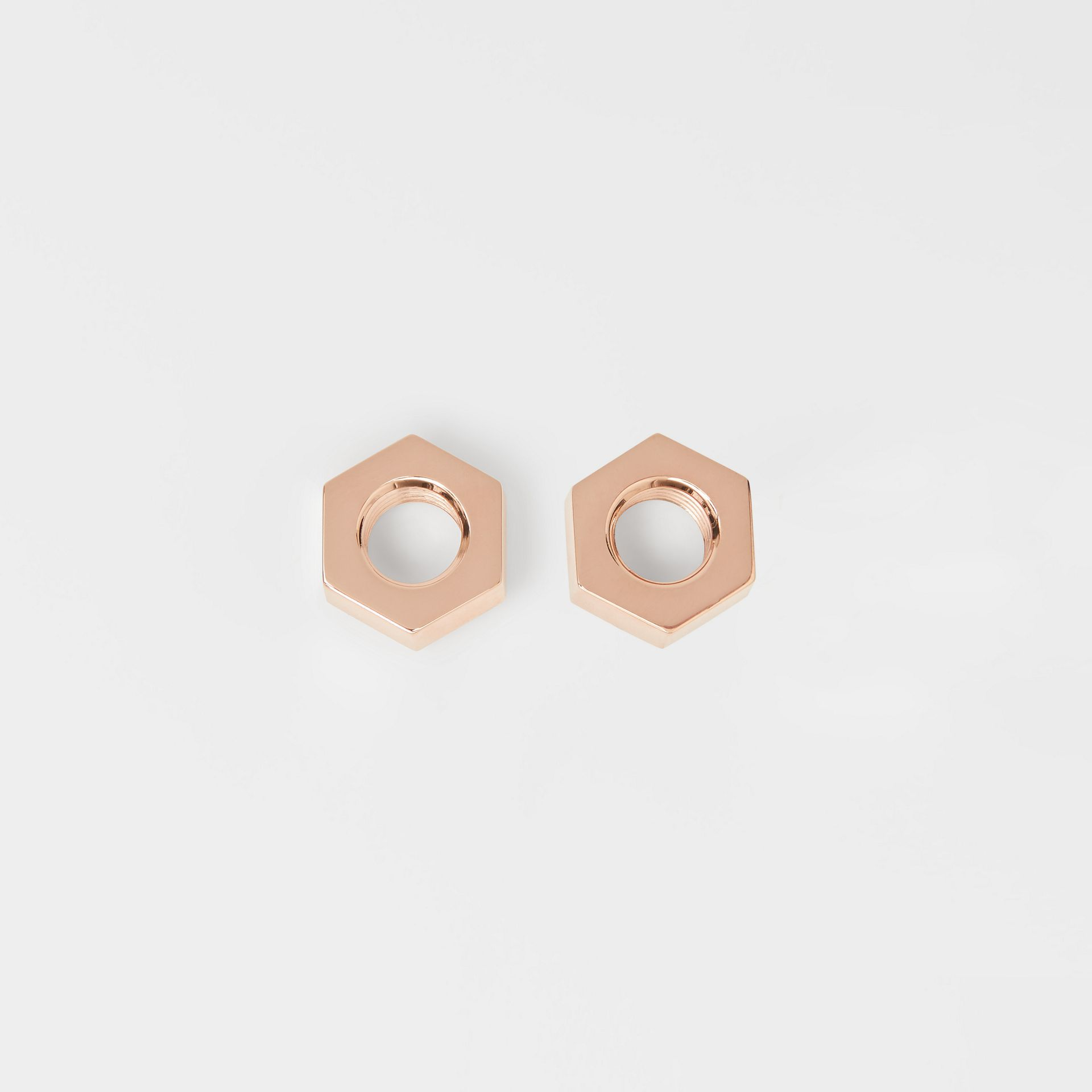 Rose Gold-plated Nut Earrings - Women | Burberry - gallery image 0