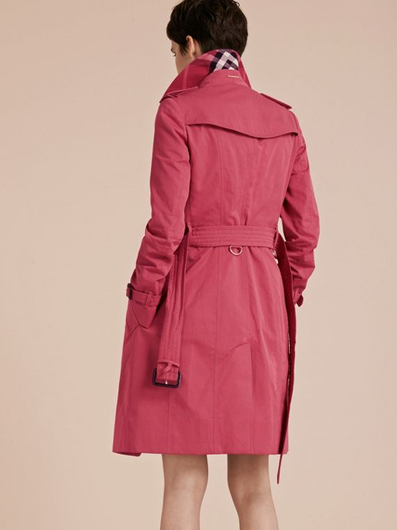 Bright copper pink Cotton Gabardine Trench Coat - cell image 2