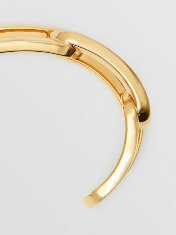Gold-plated Link Cuff in Light - Women | Burberry - cell image 1