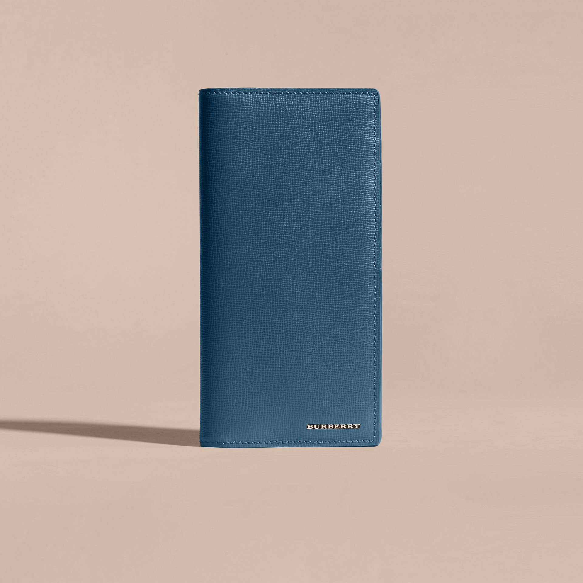 London Leather Continental Wallet in Mineral Blue - gallery image 3