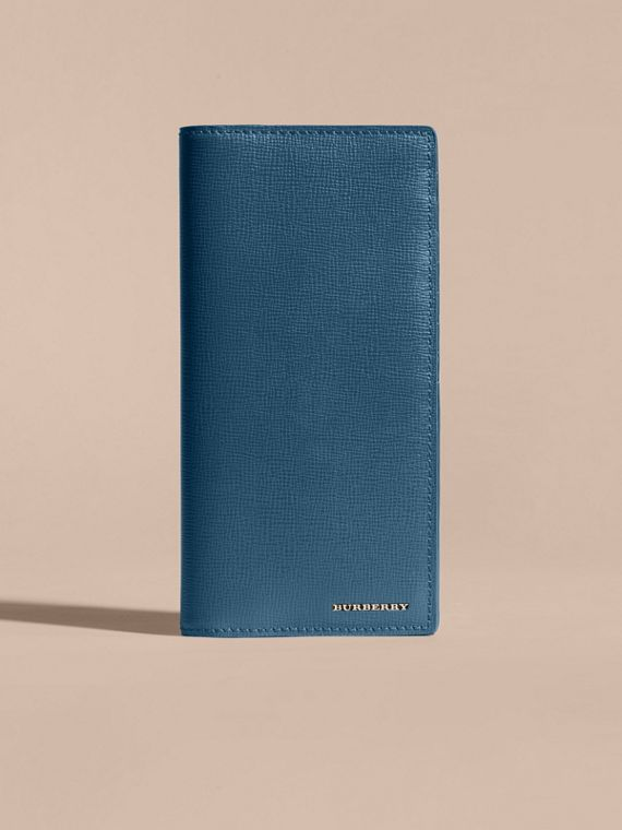 London Leather Continental Wallet in Mineral Blue - cell image 2