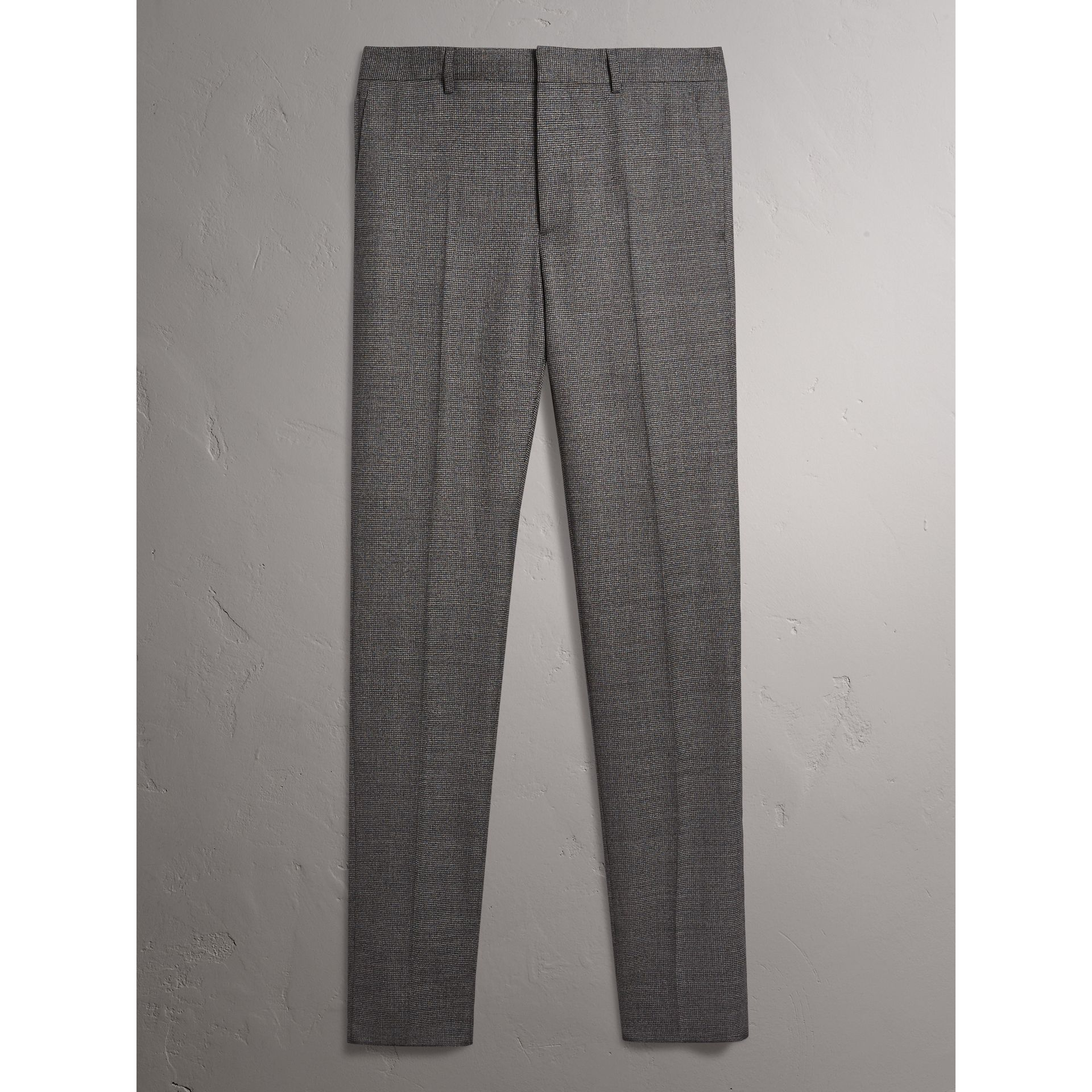 Soho Fit Houndstooth Check Wool Suit in Dark Grey Melange - Men | Burberry - gallery image 8