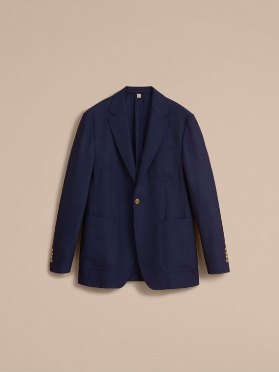Slim Fit Wool Hopsack Tailored Jacket - Men | Burberry - cell image 3