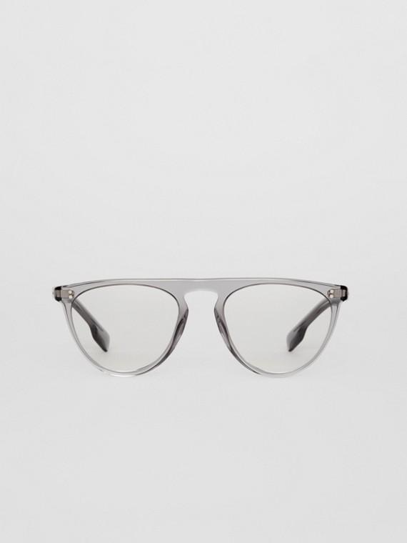 Keyhole D-shaped Optical Frames in Grey