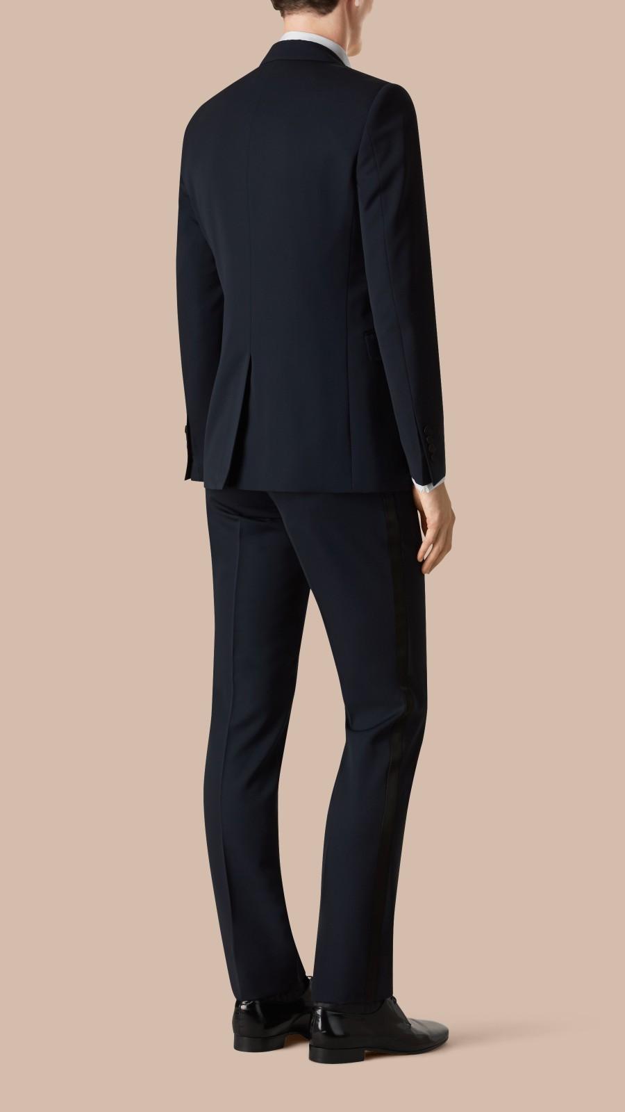 Navy Modern Fit Virgin Wool Half-canvas Tuxedo - Image 3
