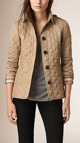 Diamond Quilted Jacket Canvas