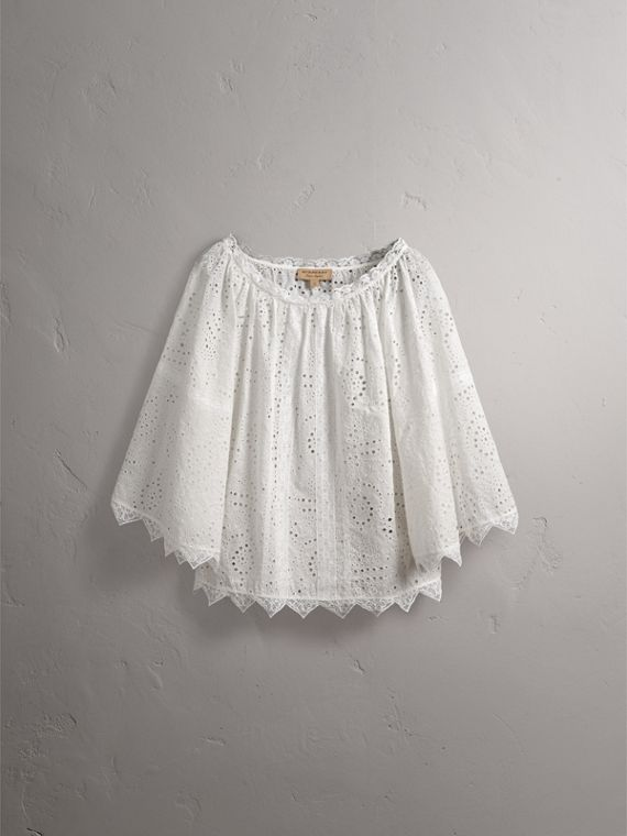 Broderie Anglaise Flared Top - Women | Burberry - cell image 3