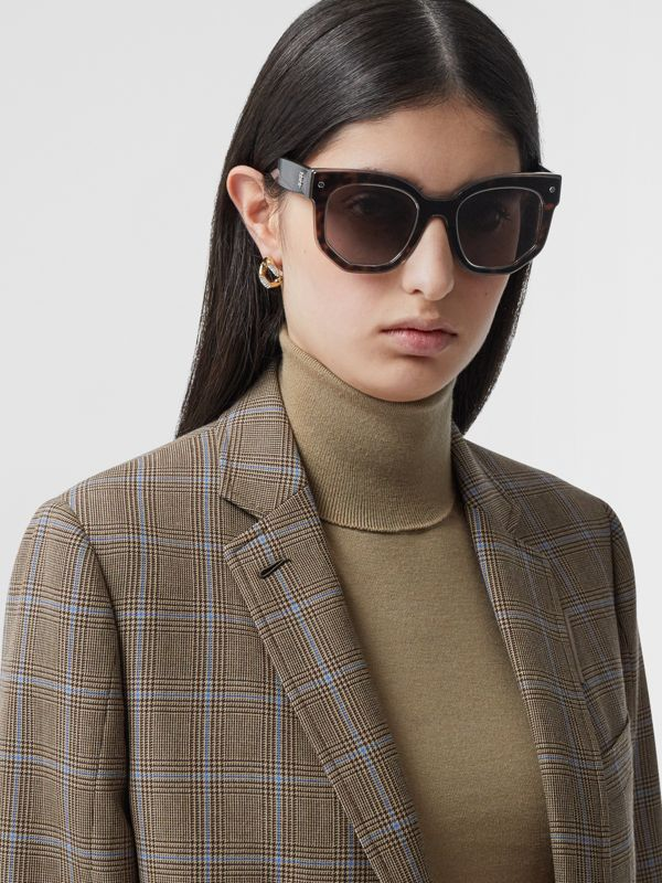 Geometric Frame Sunglasses in Tortoiseshell - Women | Burberry - cell image 2