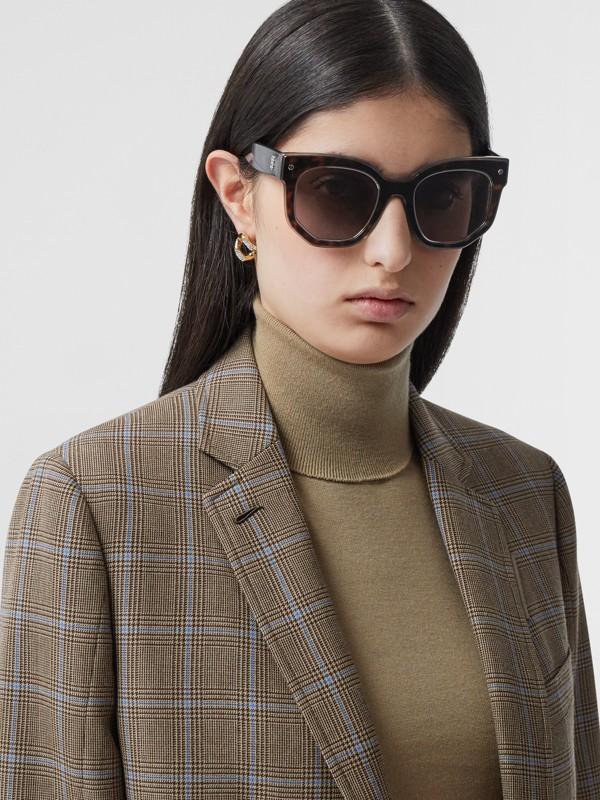 Geometric Frame Sunglasses in Tortoiseshell - Women | Burberry United Kingdom - cell image 2