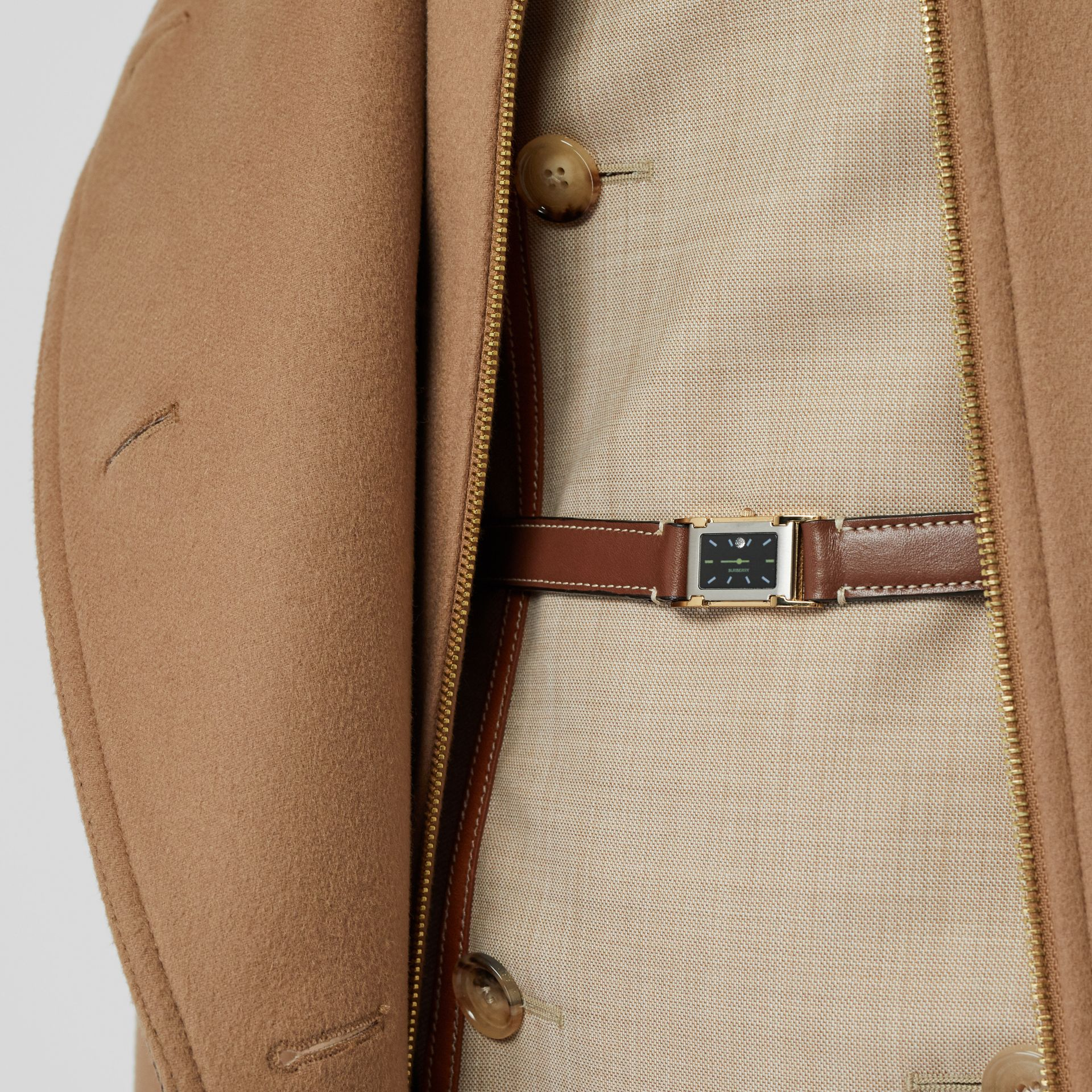 Faux Watch Detail Leather Belt in Tan - Women | Burberry United States - gallery image 2