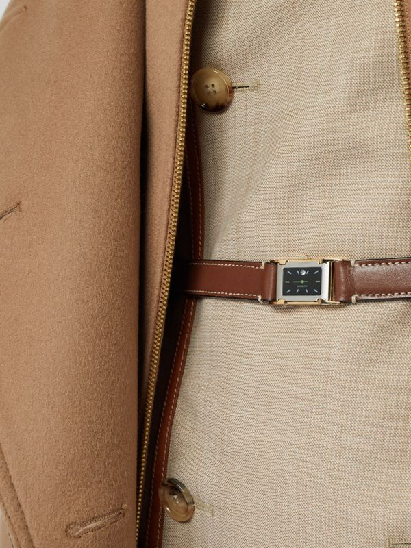 Faux Watch Detail Leather Belt in Tan - Women | Burberry - cell image 2