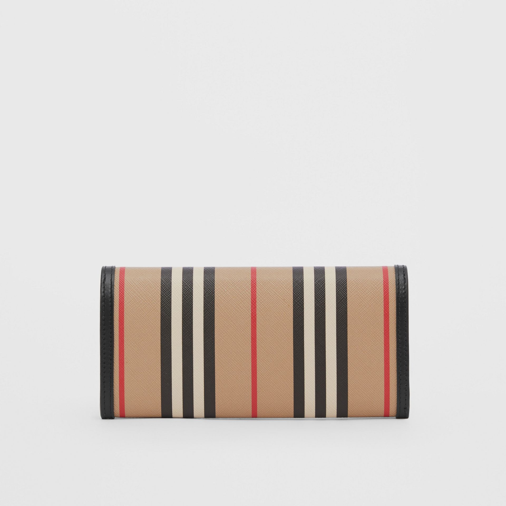Icon Stripe E-canvas Continental Wallet in Archive Beige - Women | Burberry - gallery image 4