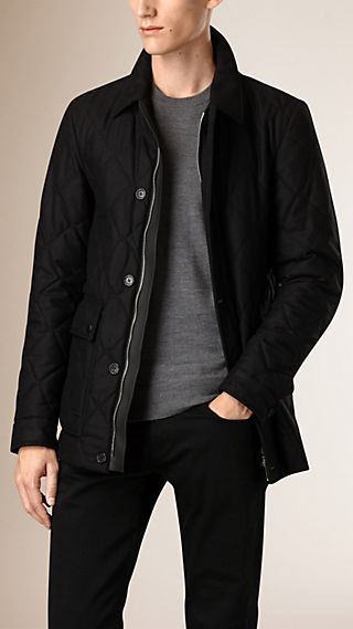 Quilted Wool and Cashmere Field Jacket