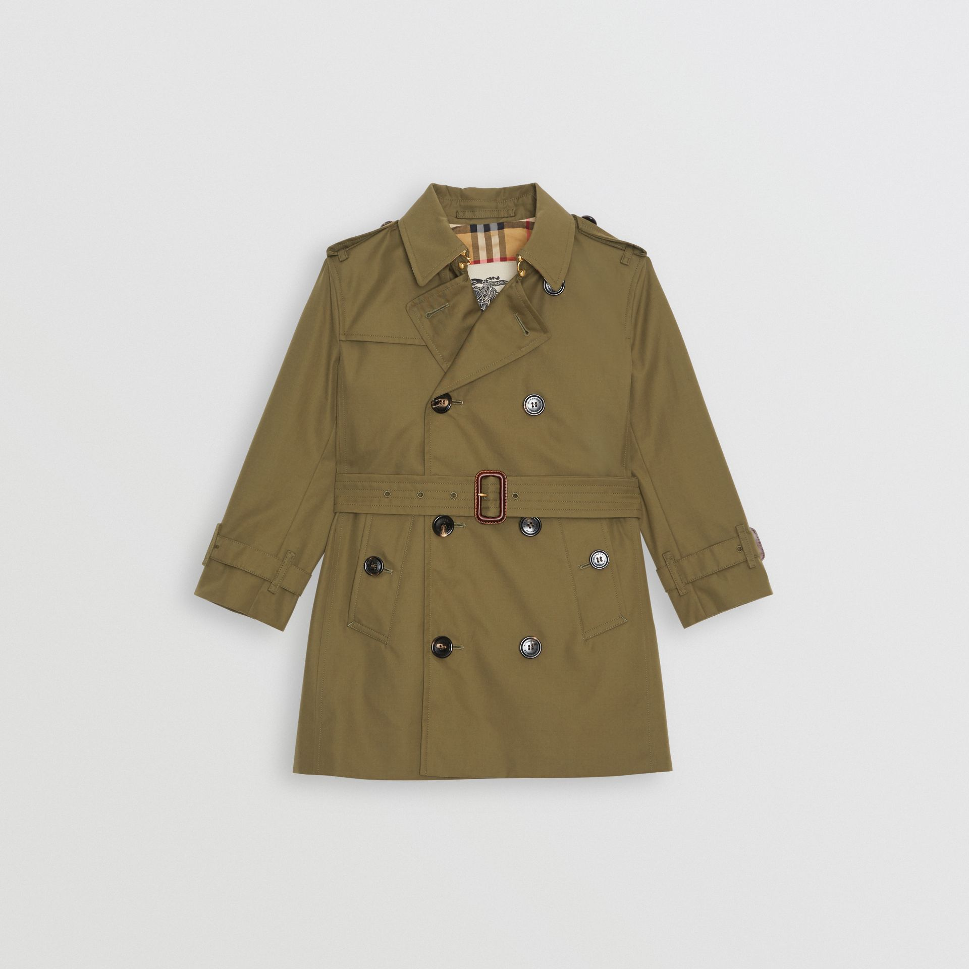 Cotton Gabardine Trench Coat in Military Olive | Burberry Canada - gallery image 0