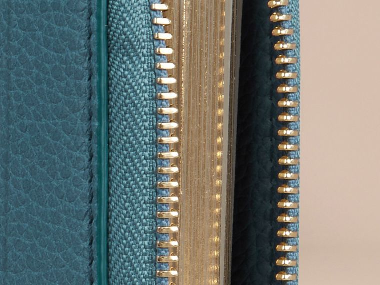 Dusty teal Ziparound Grainy Leather Mini Notebook Dusty Teal - cell image 1