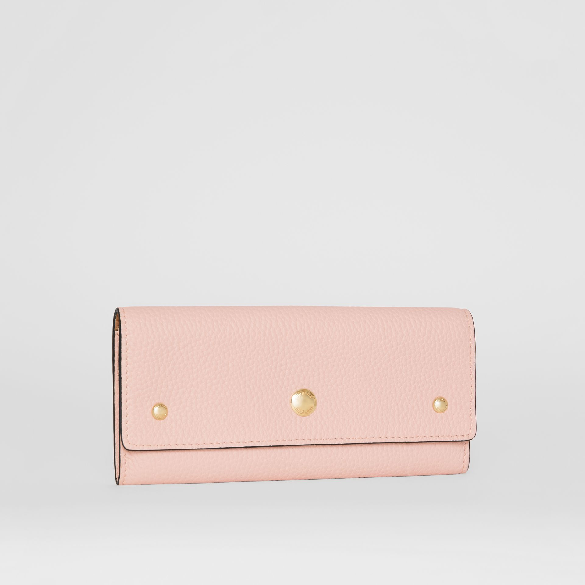 Grainy Leather Continental Wallet in Pale Ash Rose - Women | Burberry - gallery image 3