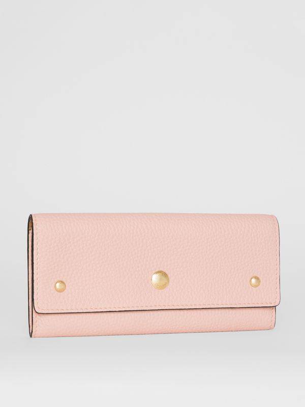 Grainy Leather Continental Wallet in Pale Ash Rose - Women | Burberry - cell image 3