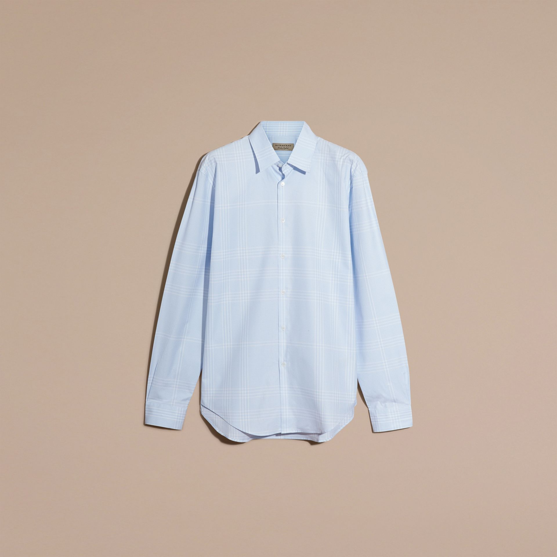 City blue Check Cotton Shirt City Blue - gallery image 4