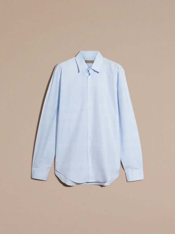 City blue Check Cotton Shirt City Blue - cell image 3