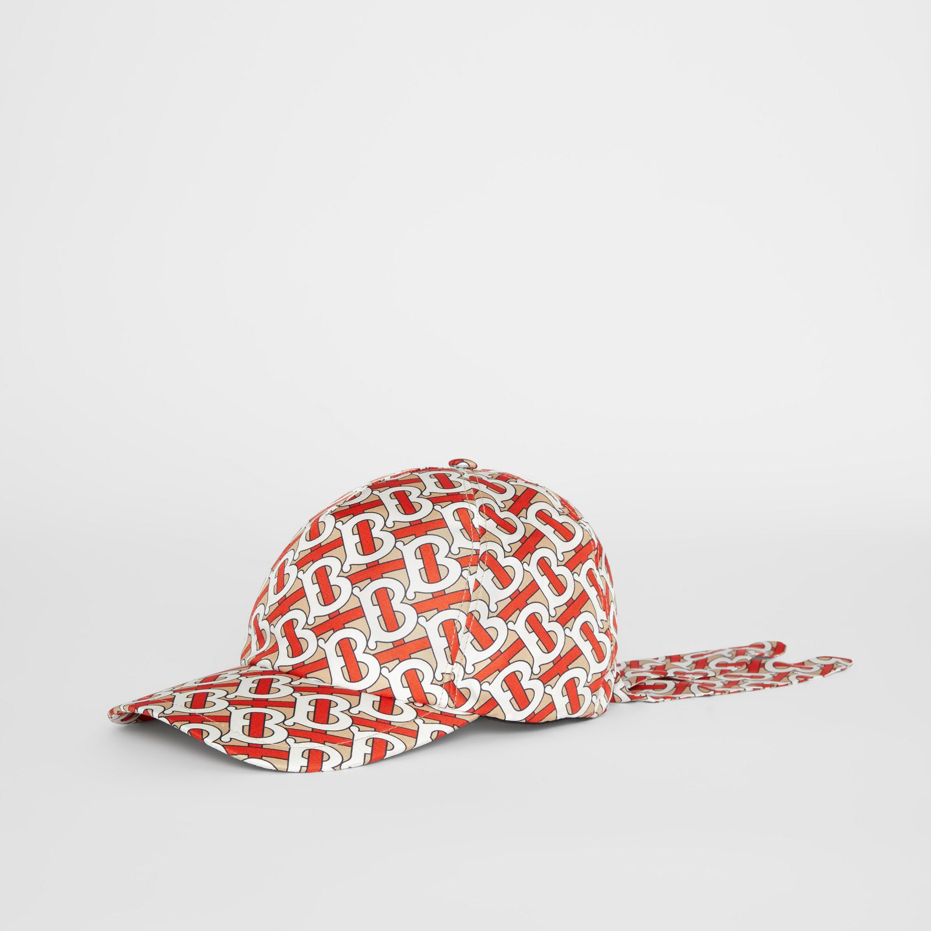 Monogram Print Baseball Cap in Vermillion - Women | Burberry - gallery image 3