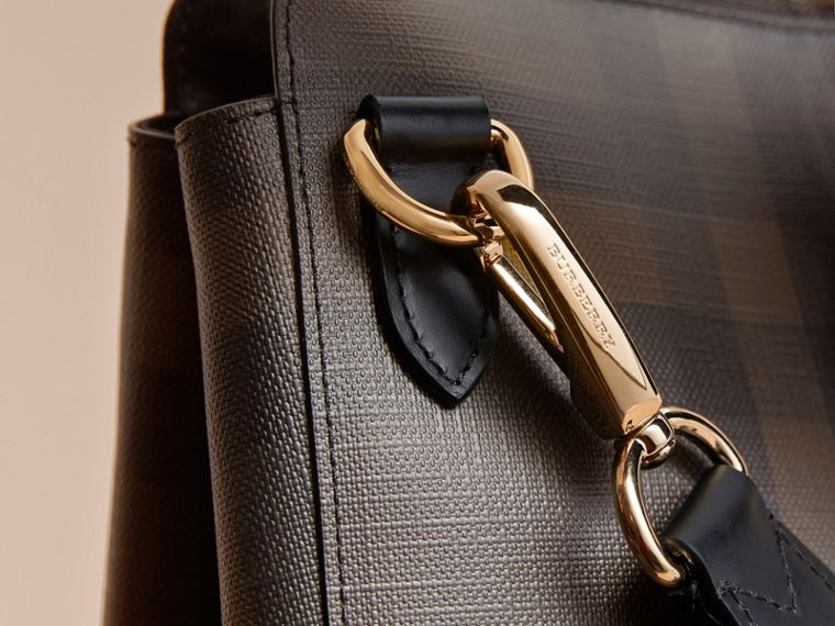 Grand attaché-case à motif London check (Chocolat/noir) - Homme | Burberry - cell image 1