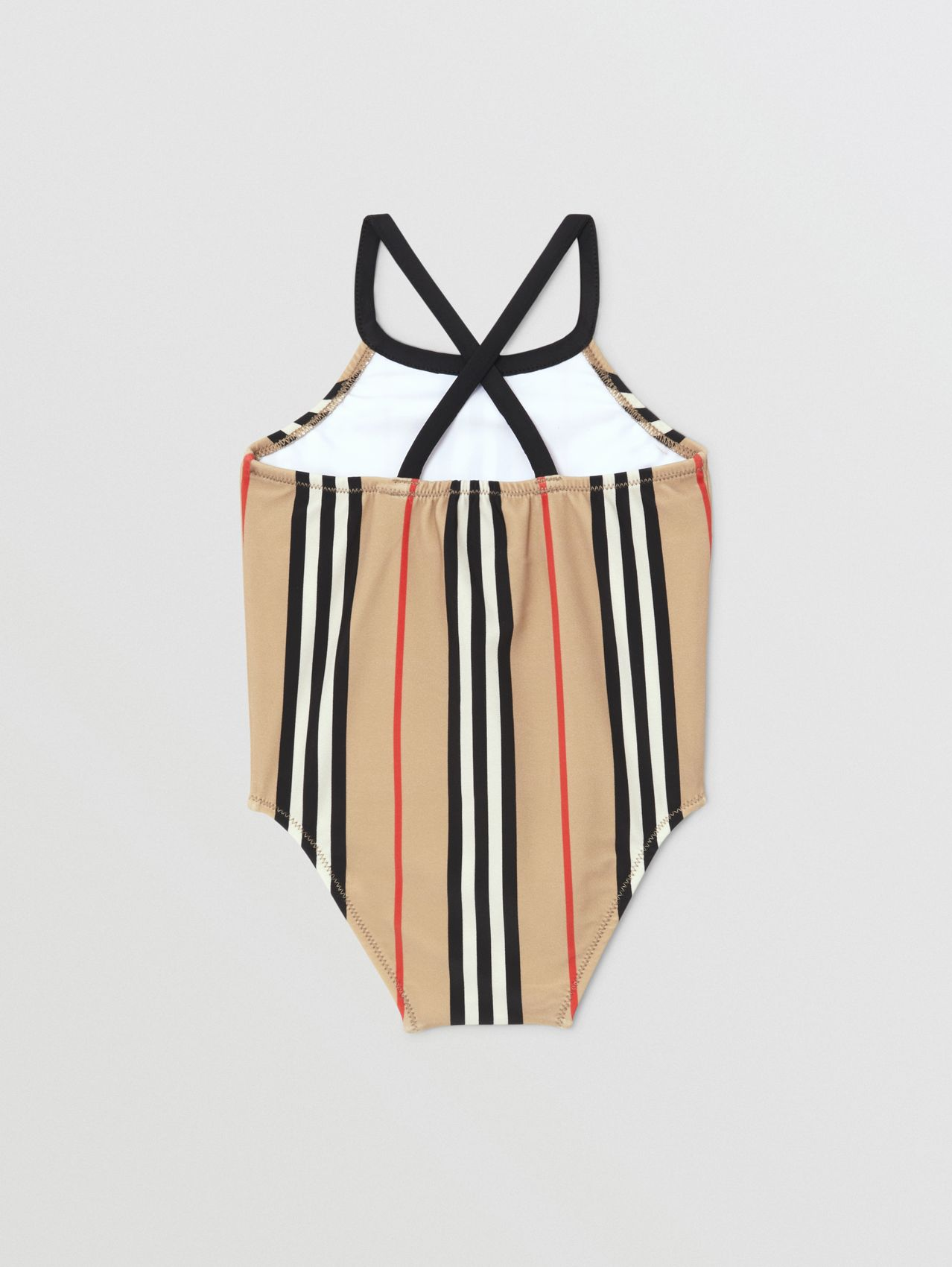 Icon Stripe Swimsuit in Archive Beige