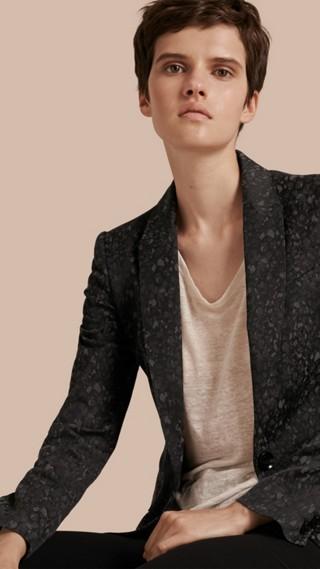 Cotton Blend Jacquard Jacket