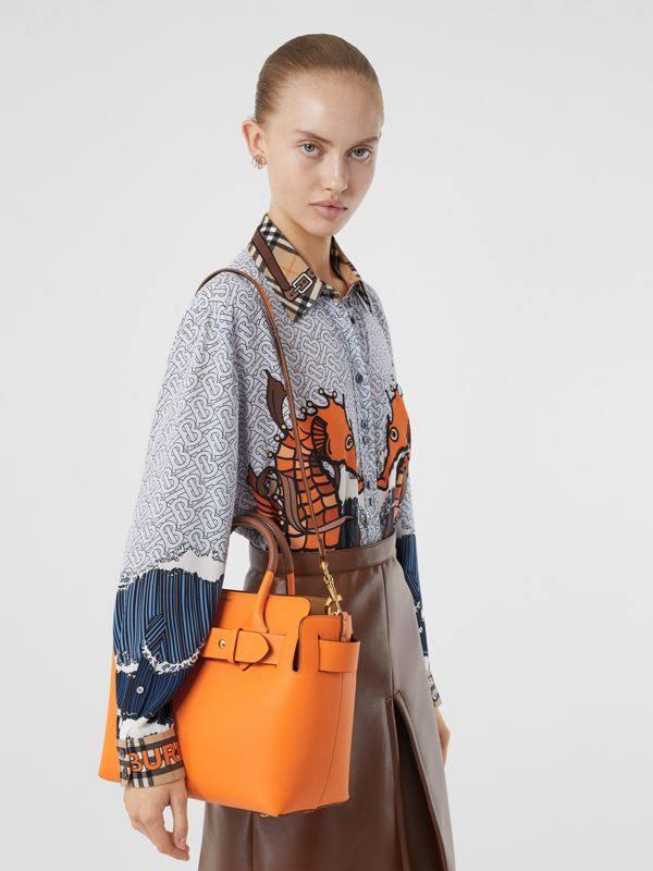 The Small Leather Triple Stud Belt Bag in Bright Orange - Women | Burberry - cell image 2