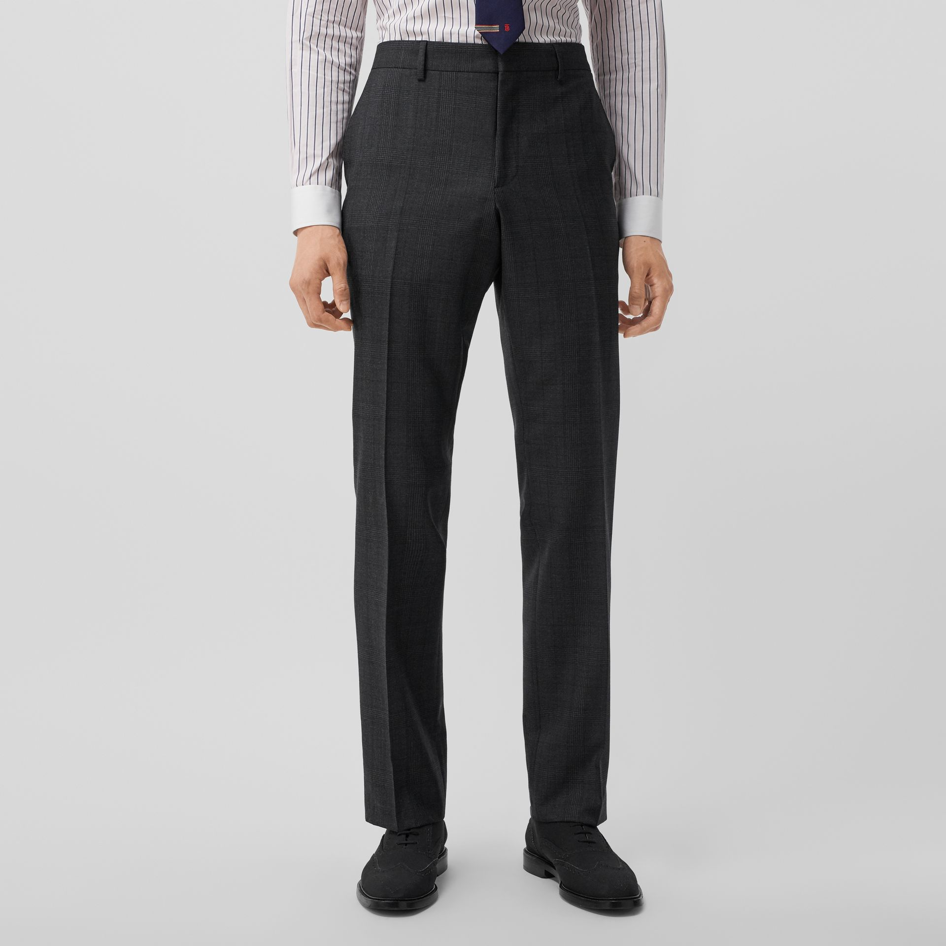 Classic Fit Check Wool Three-piece Suit in Charcoal Melange - Men | Burberry - gallery image 5