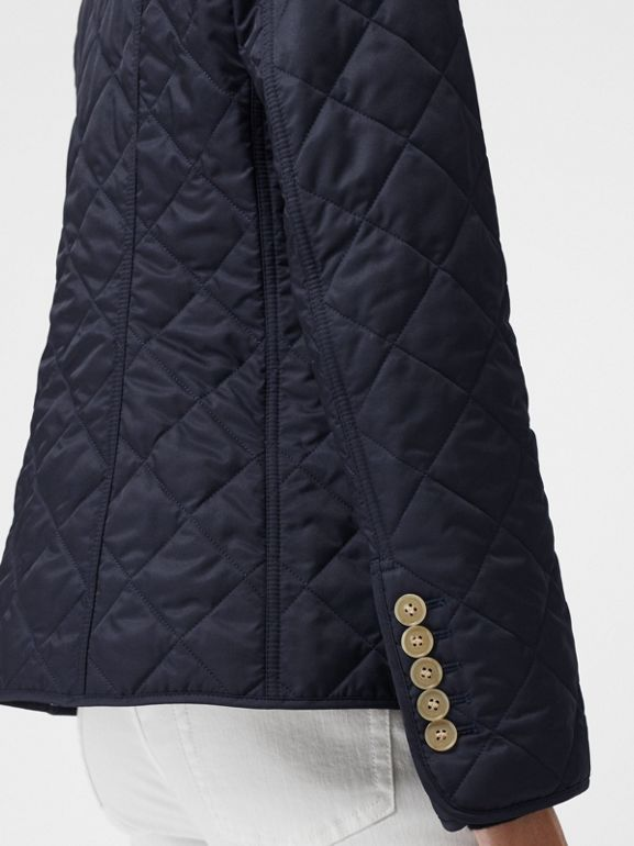 Diamond Quilted Jacket in Navy - Women | Burberry United Kingdom - cell image 1