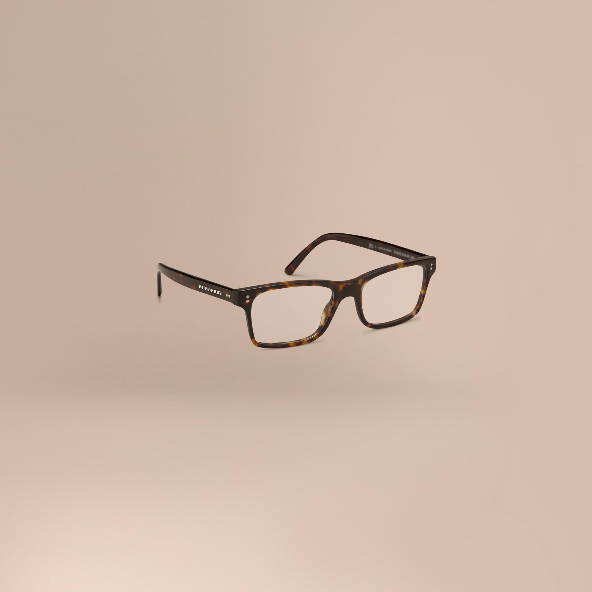 Marron Monture rectangulaire pour lunettes de vue Marron - photo de la galerie 1