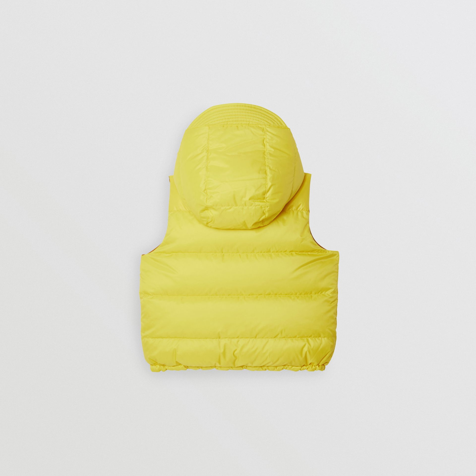 Reversible Showerproof Down-filled Hooded Gilet in Citrus Yellow | Burberry United States - gallery image 4