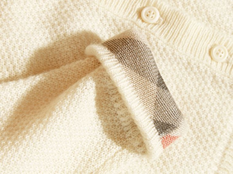 Natural white Textured Cashmere Cardigan Natural White - cell image 1