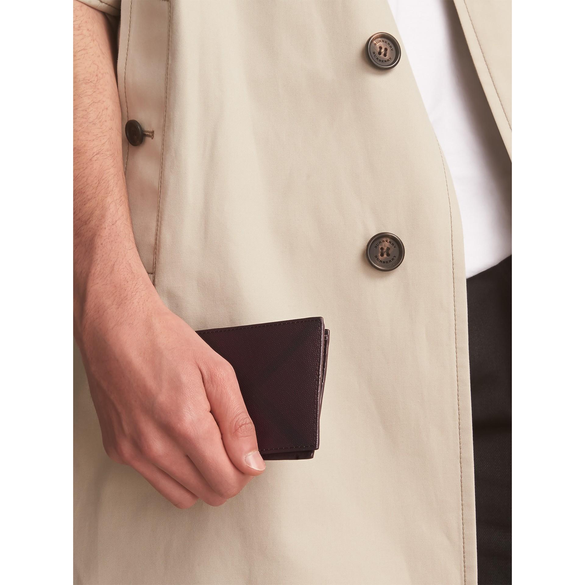 London Check Bifold Wallet in Deep Claret - Men | Burberry - gallery image 6
