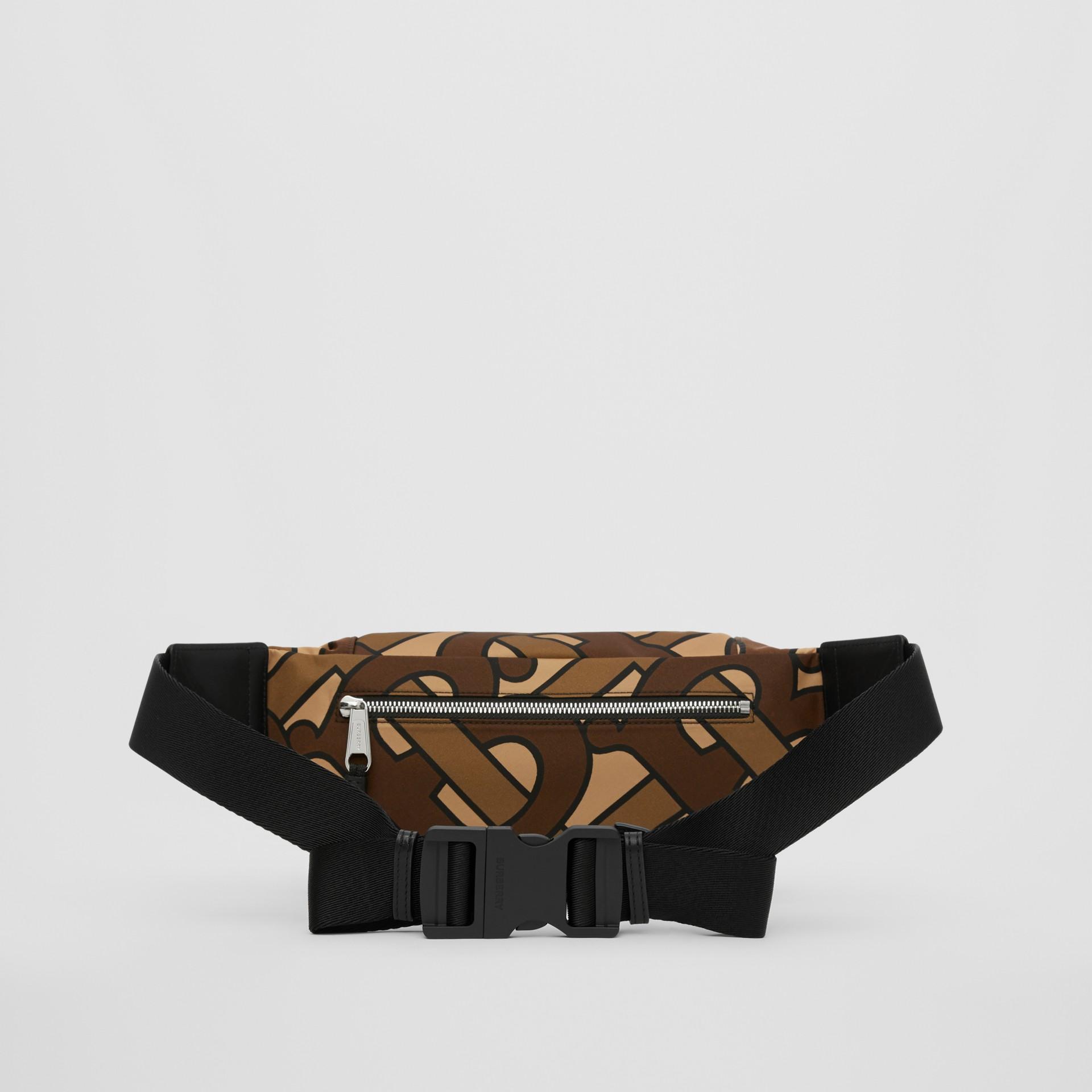Monogram Print Nylon Sonny Bum Bag in Bridle Brown - Men | Burberry - gallery image 9