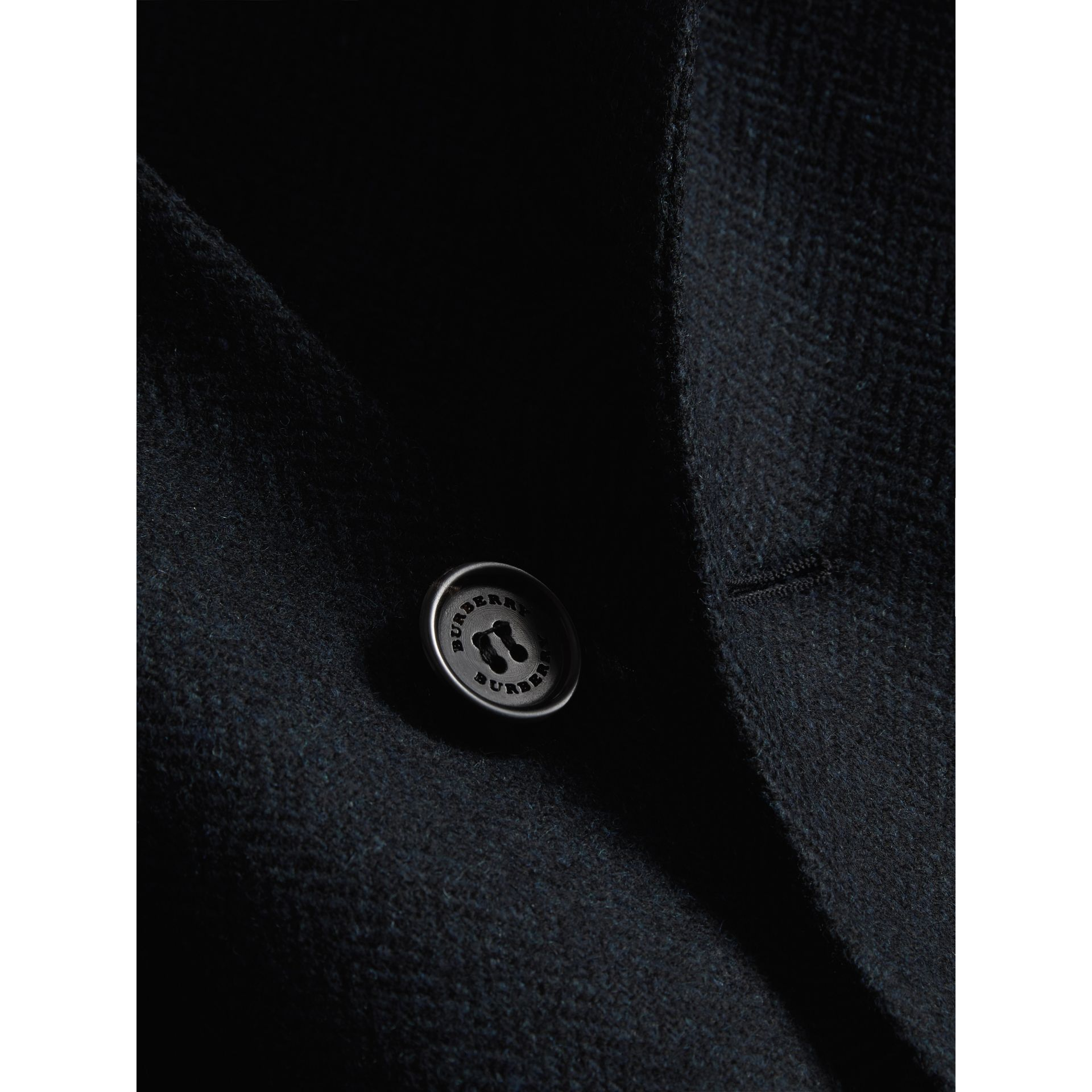 Soho Fit Herringbone Wool Tailored Jacket in Ink Blue/black - Men | Burberry - gallery image 2